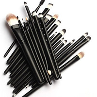 KOLIGHT® 20 Pcs Pro Makeup Set Powder Foundation Eyeshadow Eyeliner Lip Cosmetic Brushes