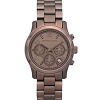 Michael Kors Mid-Size Runway Watch, Brown - Michael Kors