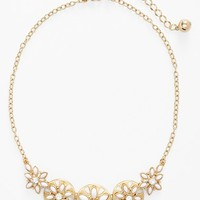 Women's kate spade new york 'eyelet garden' frontal necklace