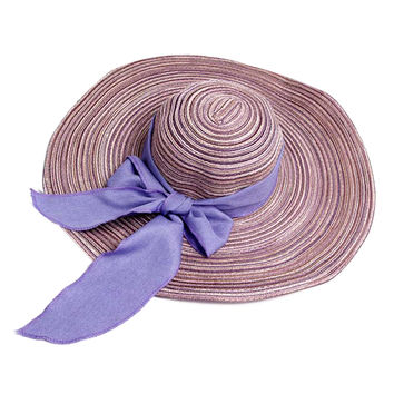 Bowknot  Large Wide Brim Straw Hat Floppy Foldable Roll up Sun Hat Beach Cap For Women