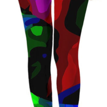 Florescent Melted Crayola Crayons Leggings