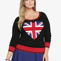Heart Union Jack Sweater