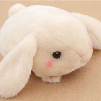 Kawaii beige bunny rabbit Poteusa Loppy plush toy from Japan