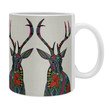 Sharon Turner Poinsettia Deer Coffee Mug