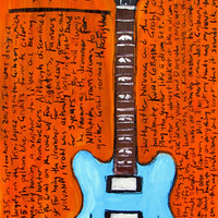 Dave Grohl Gibson electric guitar art print