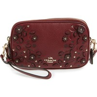 COACH Floral Studded Leather Crossbody Bag | Nordstrom