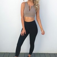 Training Day Sports Bra: Mocha