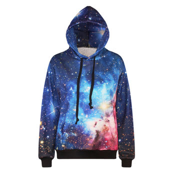 Raisevern new harajuku 3d sweatshirt women hoodies galaxy space both side print womens women's galaxy hoodies sudaderas mujer