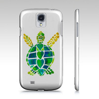 Artistic Phone Case, Turtle Love, iphone4/4s, iphone 5, Samsung S3, abstract, blue, teal, colorful cases, protective, gadgets, tech