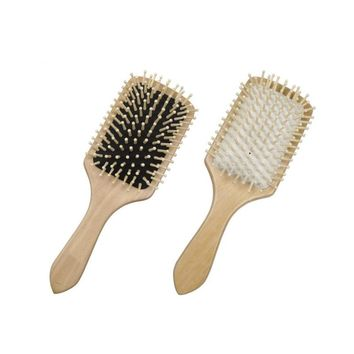 1pcs Hair Care Wooden Spa Massage Comb Paddle Pointed Handle Teeth Brush Antistatic Cushion