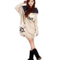 Amazon.com: Huafeng Long Cashmere Cardigan Sweater Womens(one Size Beige): Clothing