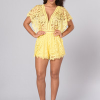 Summer Romance Romper - Yellow