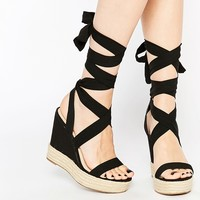 ASOS TORNADO Lace Up Wedges