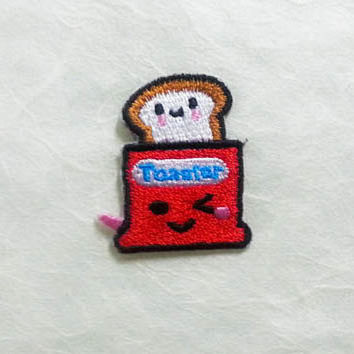 Toaster Bread Machine Iron on Patch(S)- Toaster Oven Applique Embroidered Iron on Patch Size 3.2x3.5 cm