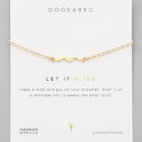 DOGEARED - Let It Slide Gold-Dipped Snake Pendant Bracelet