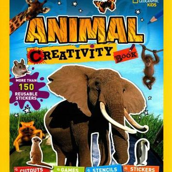 Animal Creativity Book: Cutouts, Games, Stencils, Stickers