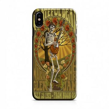 Grateful Dead (elaborate frame skeleton) iPhone X Case