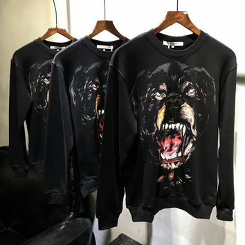 PEAPUF3 Givenchy Woman Men Casual Animal Print Long Sleeve Sweater G-A-GHSY-1