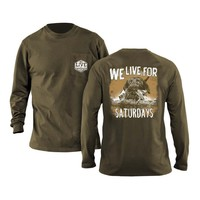 Duck Dog Long Sleeve Tee in Olive by We Live For Saturdays