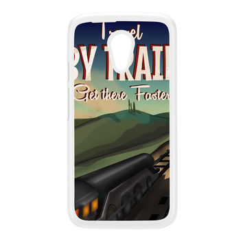 Travel by train White Hard Plastic Case for Moto G2 by Nick Greenaway