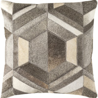 Surya Lycaon Throw Pillow Gray, Brown