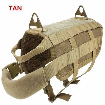Tactical Dog Training Vest Nylon Adjustable Patrol Harness Service Dog Vest Ve lcro on Sides for ID Patch 11 Colors Available