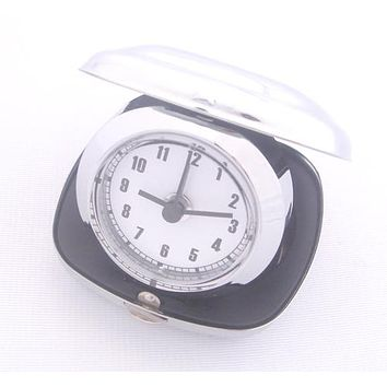 Personalized Free Engraving Silver Desk Travel Foldable Alarm Clock