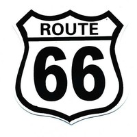 Motorcycle Helmet Sticker - Route 66