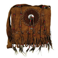 Leather Feather Fringe Messenger Bag on sale for $29.95 at Hippie Shop