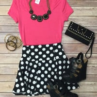 Pretty Polka Dot Skirt