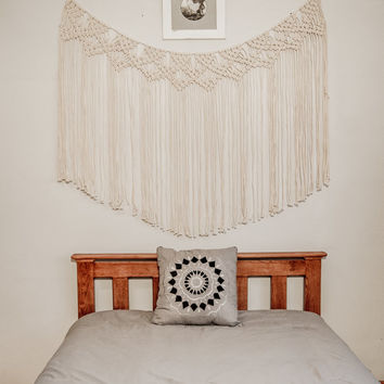 PROMO PRICE! Macrame curtain, macrame wall hanging, macrame wall art, macrame vintage, boho bedroom decor, hippie wedding, wedding backdrop