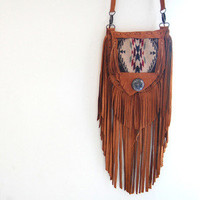 Pendleton Elk Hide Fringe Bag — Beyond Buckskin Boutique