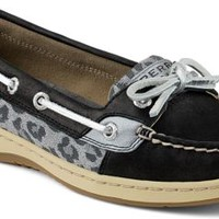 Sperry Top-Sider Angelfish Leopard Jacquard Slip-On Boat Shoe Black/Leopard, Size 5M  Women's Shoes
