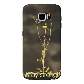 Stay strong with floral symbol samsung galaxy s6 cases