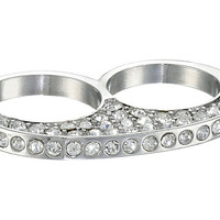 GUESS Two Finger Pave Ring Silver/Crystal - Zappos.com Free Shipping BOTH Ways