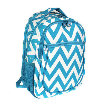 Monogrammed Backpack  Chevron Bookbag- 3 POCKETS