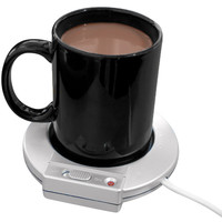 Evelots Mug/Cup Warmer, Electric Beverage Heater Surface, Office & Home, Silver