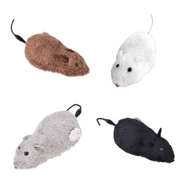 1PCS Cute Wind Up Funny Running Mouse Rat Move Tail Cat Kitten Prank Toy Kids Joking Gag Gift Toys Playing Toys