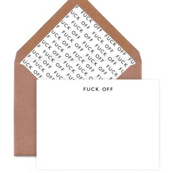 Fuck Off Note Cards (Pack of 6)