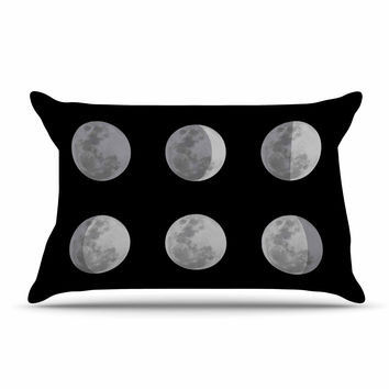 "Jackie Rose ""Lunar OCD"" Black Gray Pillow Case"