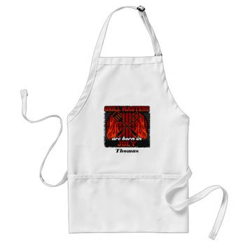 Grill Masters Are Born In July Personalized Adult Apron