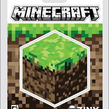 Minecraft Logo Dirt Block Sticker Decal 2-pcs 2 Piece Official Licensed 3x2.75""