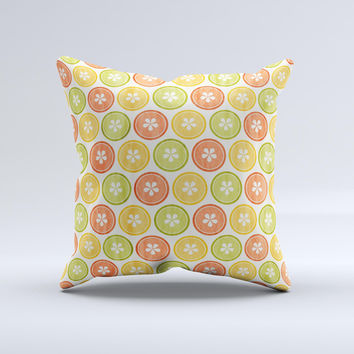 Vintage Color Buttons Ink-Fuzed Decorative Throw Pillow