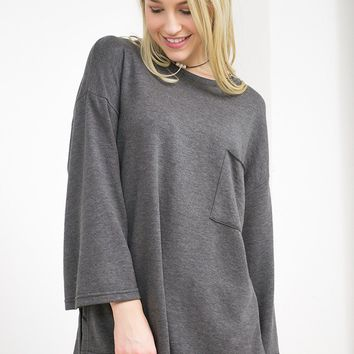 Relaxed Oversized Pocket Top