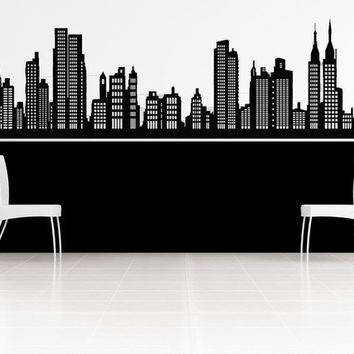 Gorgeous New York Skyline Vinyl Decal by VinylWallAccents on Etsy