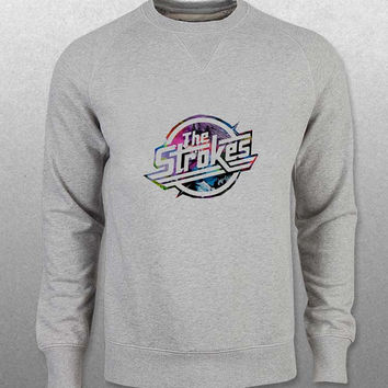 the strokes sweater Gray Sweatshirt Crewneck Men or Women Unisex Size with variant colour