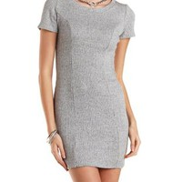 Heather Gray Ribbed Knit Bodycon Dress by Charlotte Russe