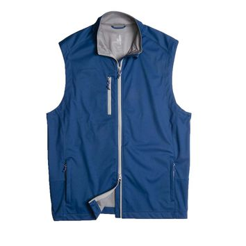 Firestone 2-Way Zip Front Wind Vest in Blazer by Johnnie-O