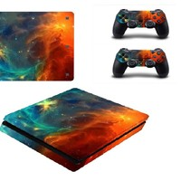 PS4 Slim Skin Stickers Wrap for Sony PlayStation