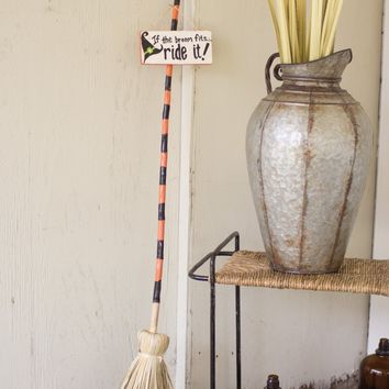 Set Of 2 If The Broom Fits Ride It